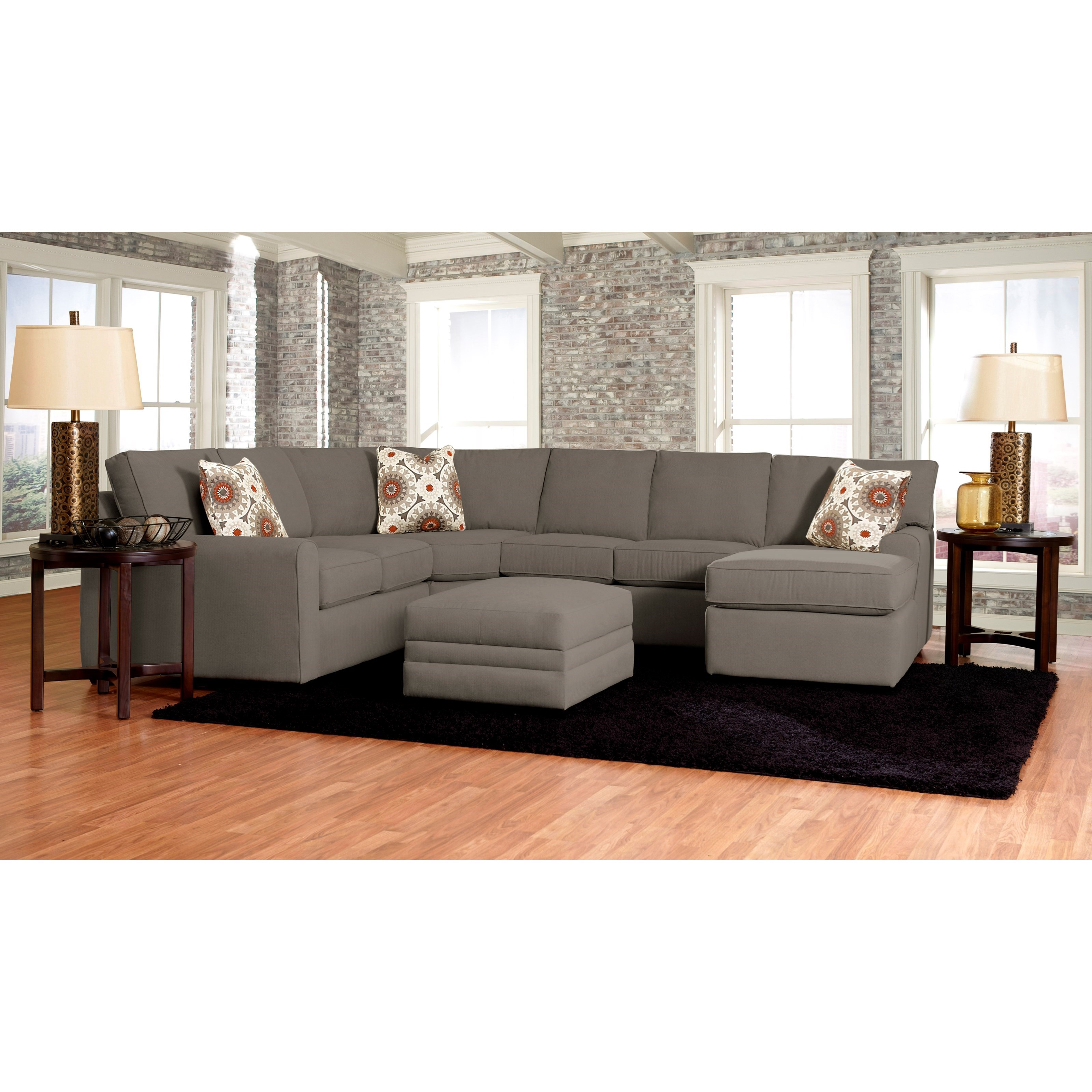 Klaussner Leather Sofa Review: Klaussner Hybrid Four Piece Sectional Sofa With Right