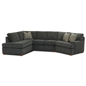 Klaussner Hybrid Sectional Sofa