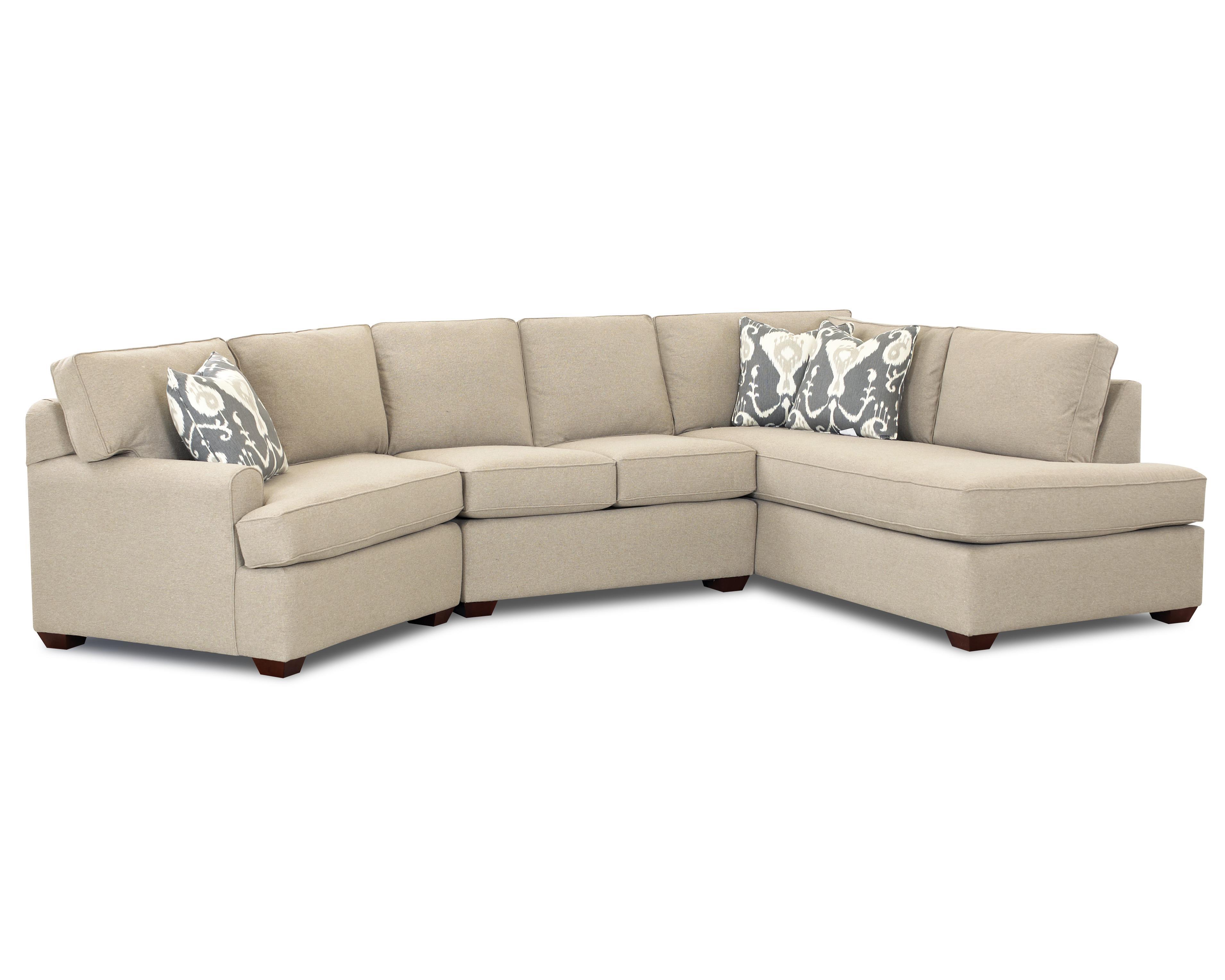Klaussner Hybrid Sectional Sofa - Item Number: K54460L SCHS+ALS+R BC
