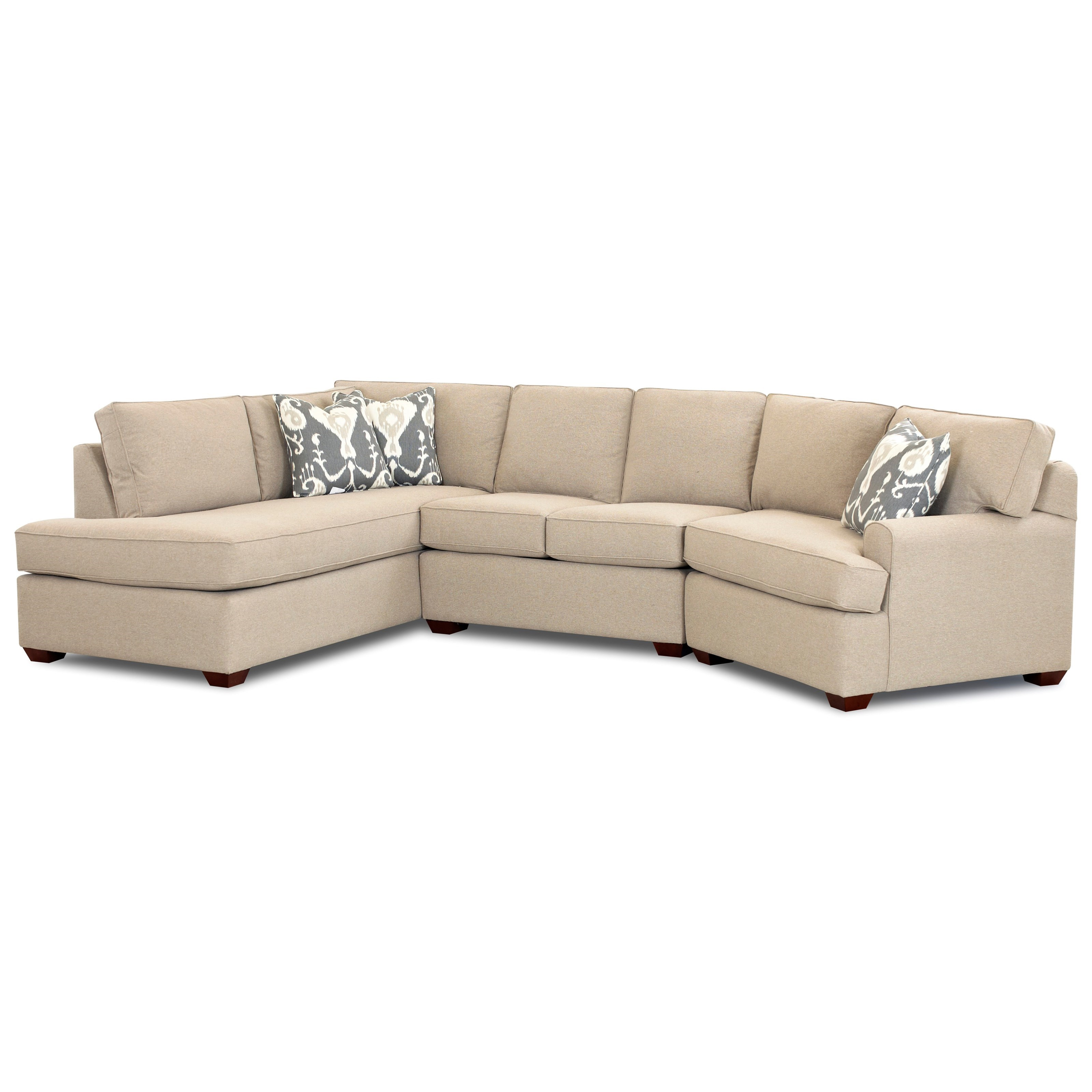 Klaussner Hybrid Sectional Sofa With Left Facing Sofa