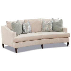 Ingraham Contemporary 2-Seat Sofa with Rounded Shape by Klaussner