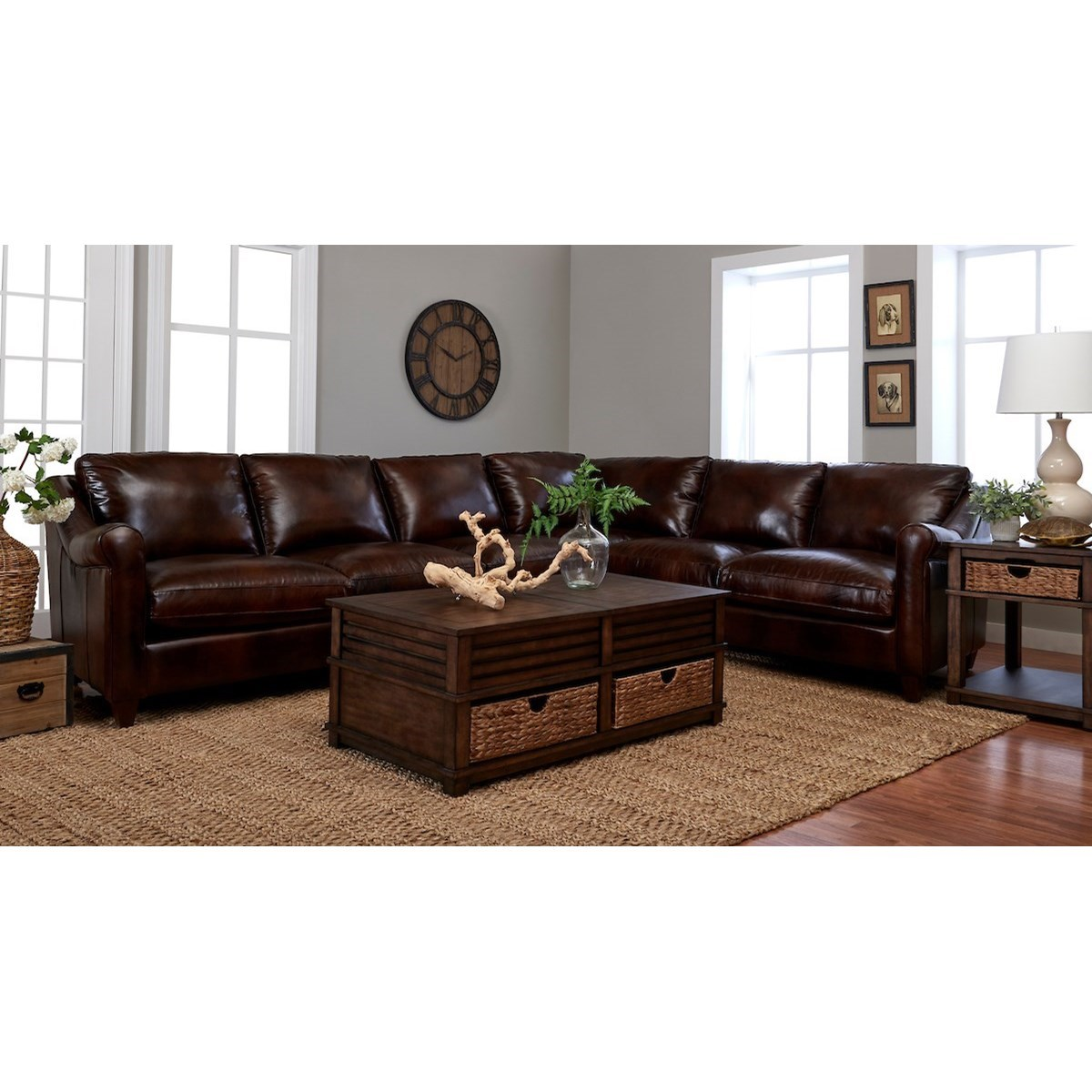 Isabella 5-Seat Sectional Sofa w/ RAF Corner Sofa by Klaussner at Johnny Janosik