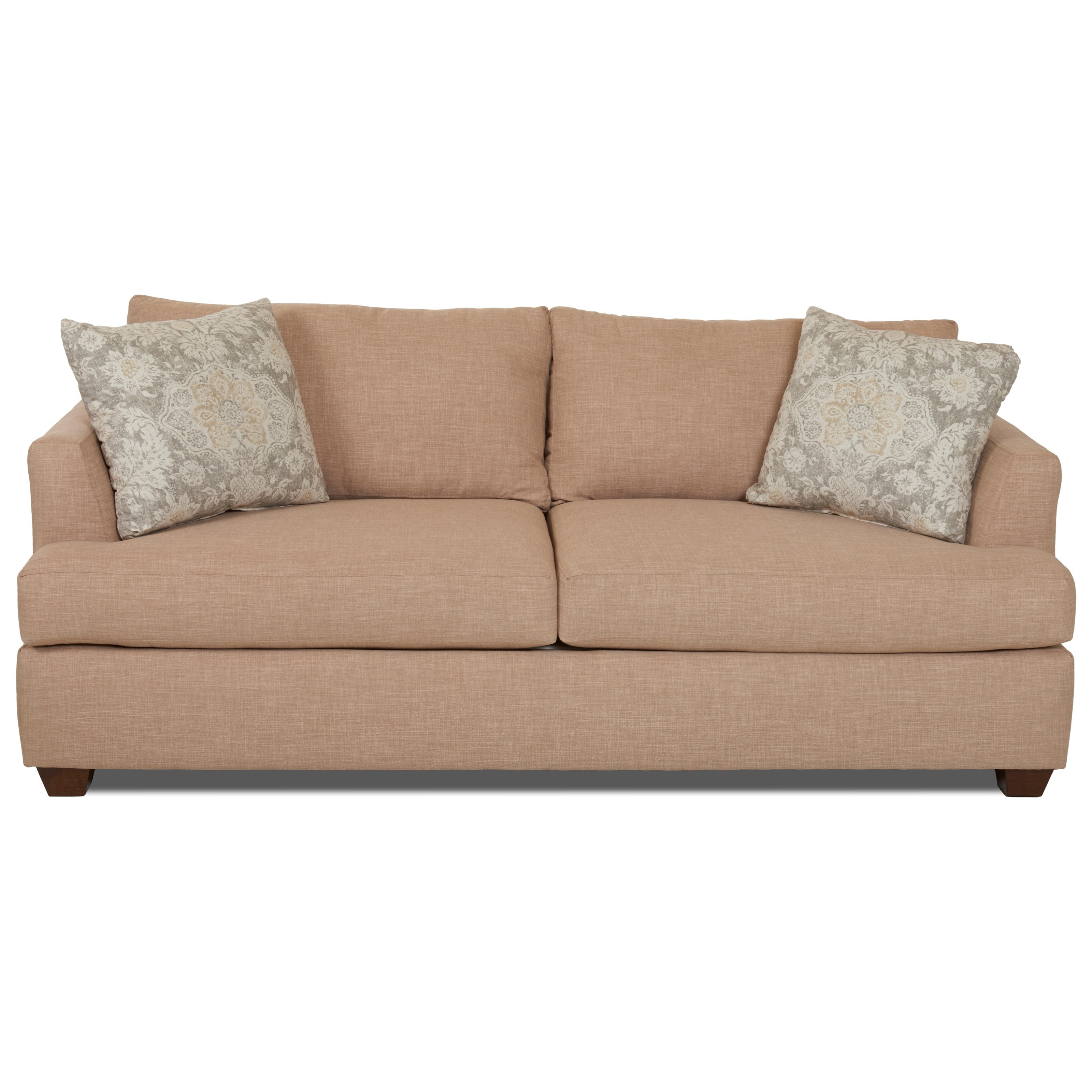 Klaussner Jack Dreamquest Queen Sleeper Sofa - Item Number: K49500 DQSL-FANDANGO FLAX