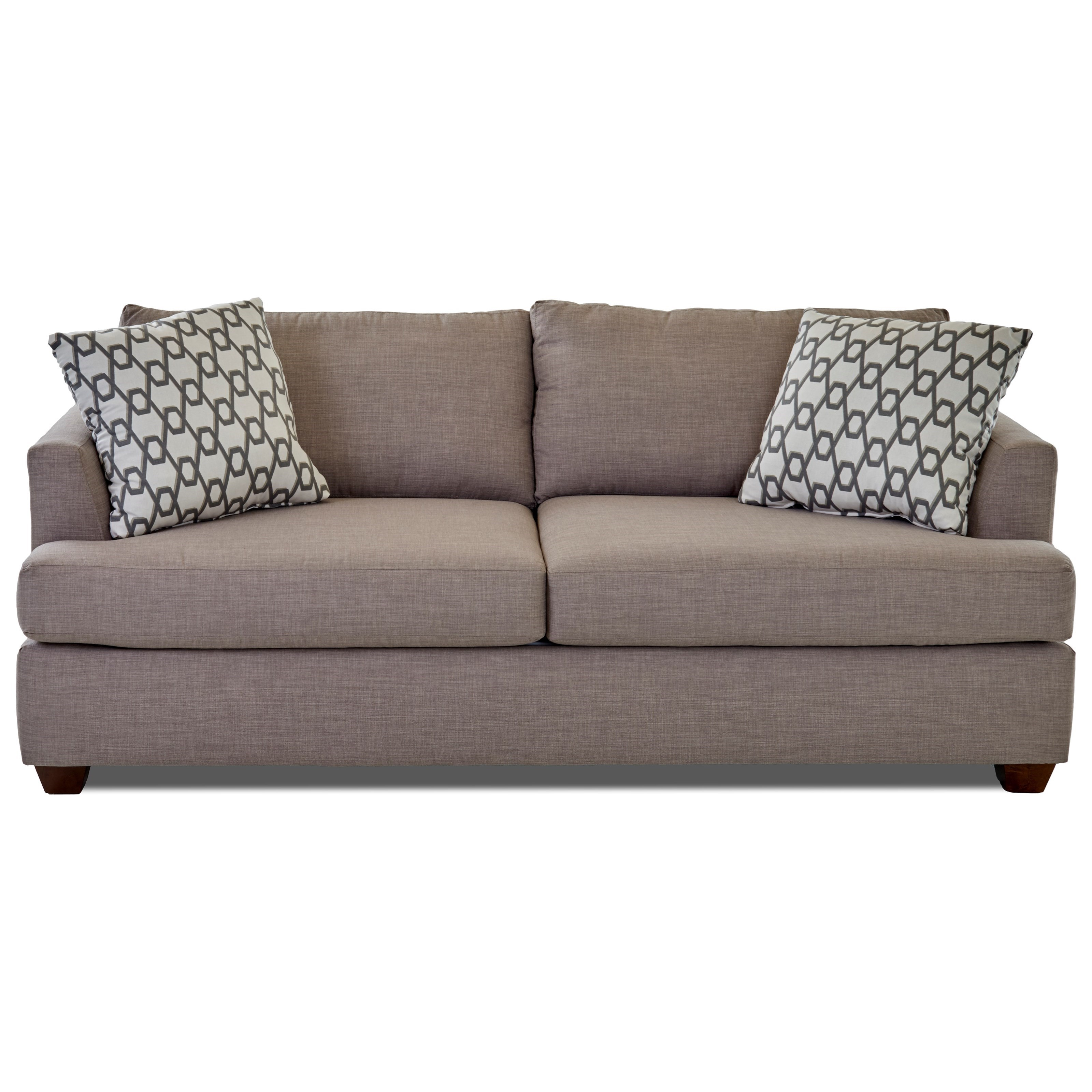 Klaussner Jack Dreamquest Queen Sleeper Sofa - Item Number: K49500 DQSL-FANDSTON
