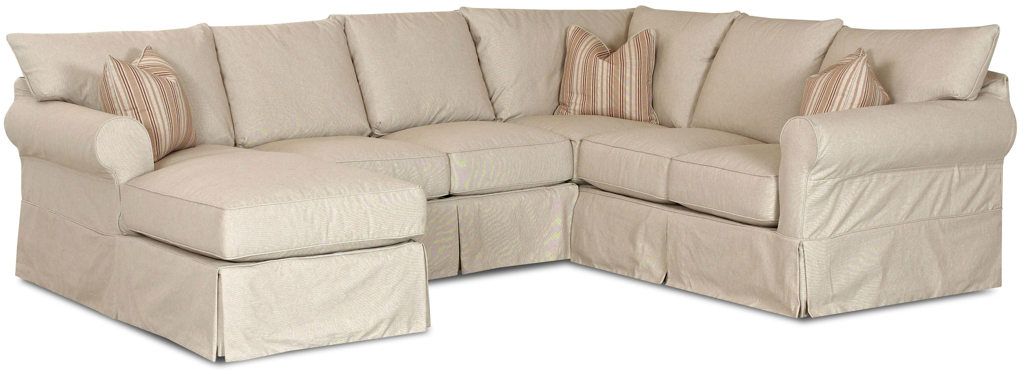 Klaussner Jenny Slip Cover Sectional Sofa with Left Chaise - AHFA - Sofa Sectional Dealer Locator  sc 1 st  Furniture Dealer Locator - Find your furniture : slipcover for chaise sofa - Sectionals, Sofas & Couches