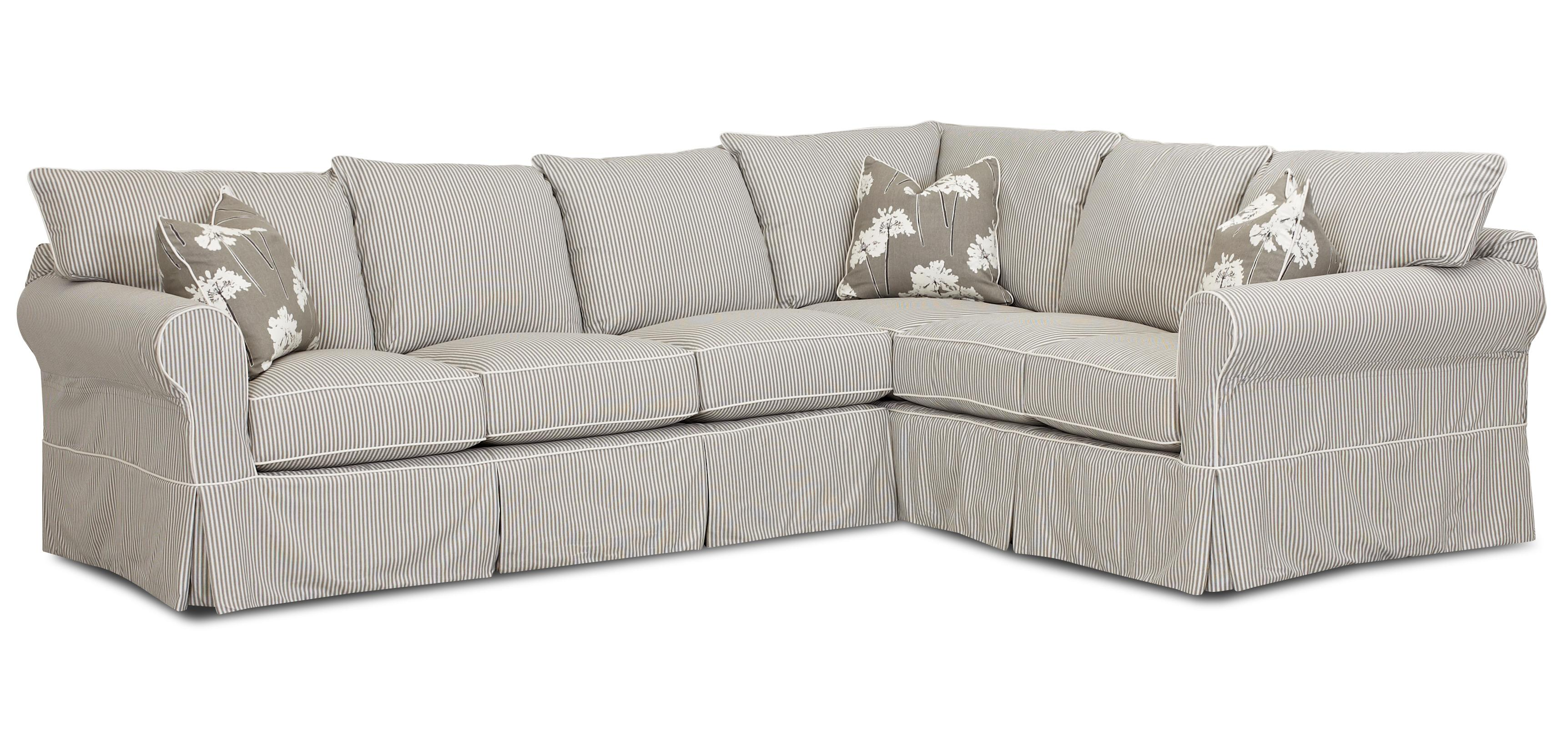 Klaussner Jenny Transitional 2 Piece Sectional Sofa