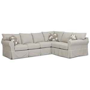Elliston Place Jenny Transitional 2 Piece Sectional Sofa