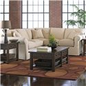 Klaussner Jenny Slipcover Sectional with Rolled Arms and Skirt - D16100LMS+RMCRNS