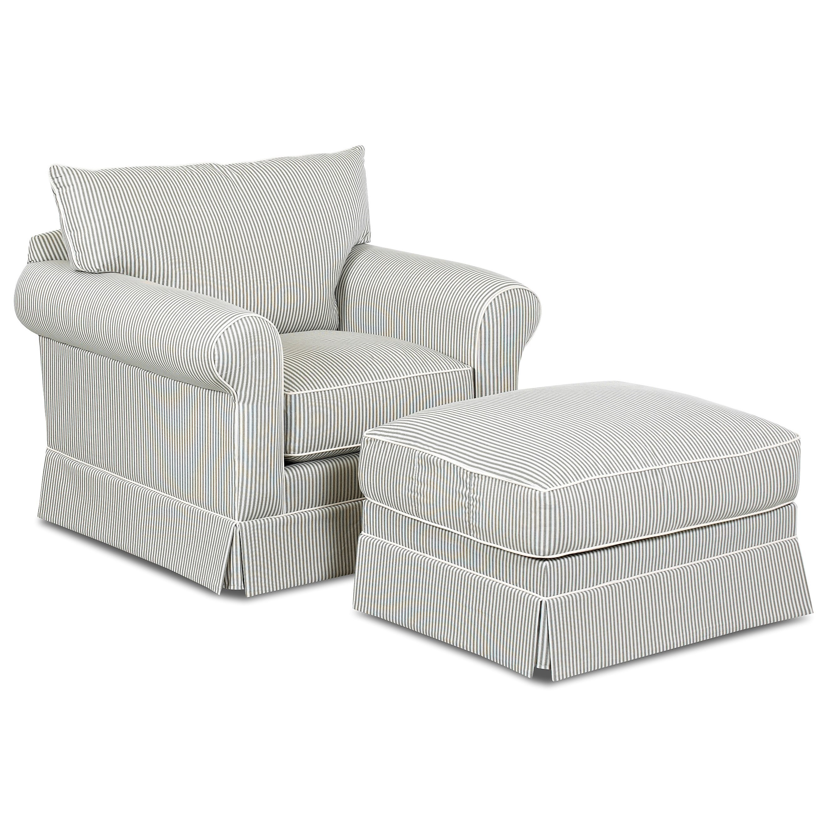 Jenny Chair & Ottoman Set by Klaussner at Johnny Janosik
