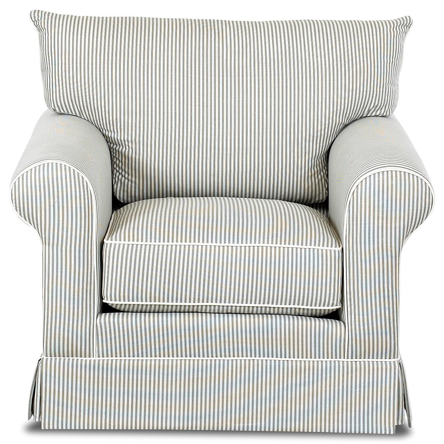 Klaussner Jenny D16700 C Transitional Chair With Rolled