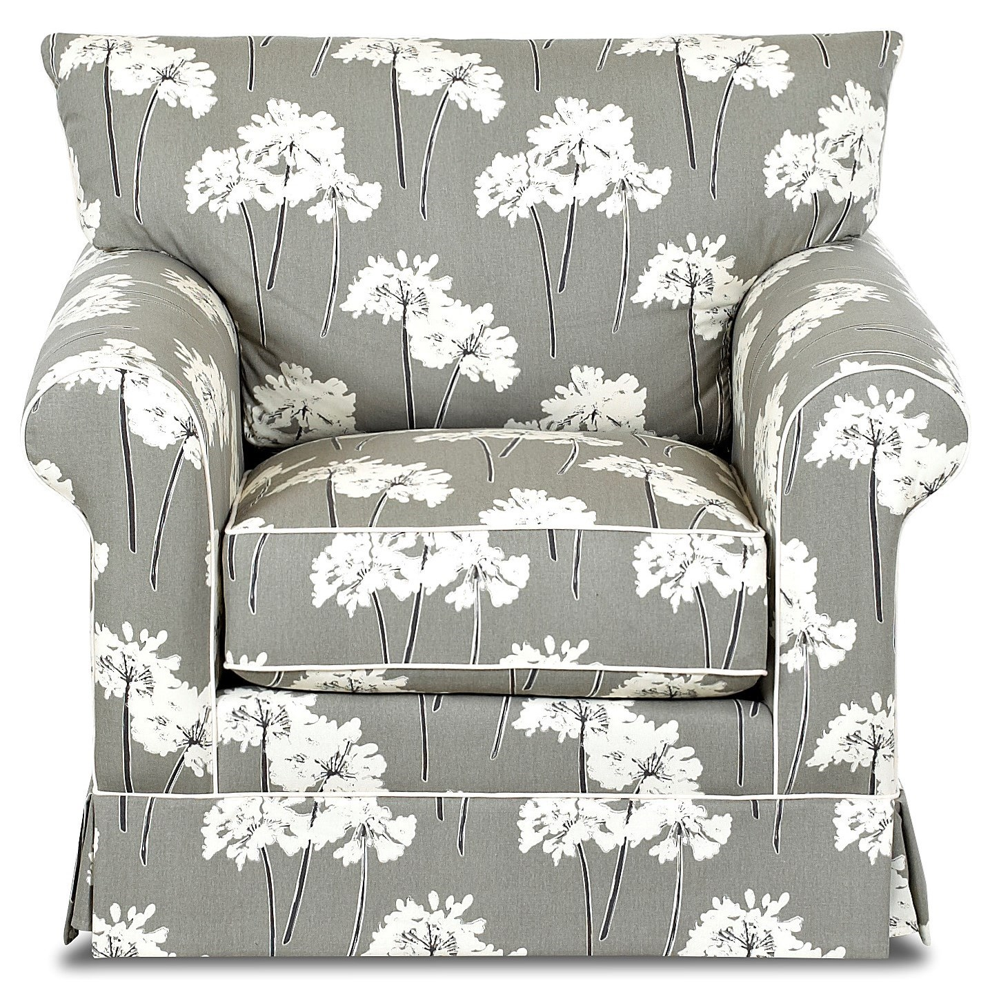 Klaussner Jenny Transitional Chair - Item Number: D16700 C-Serina Storm