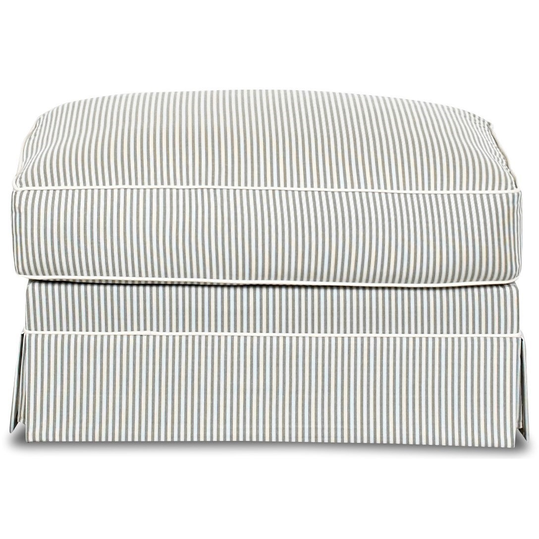Klaussner Jenny Ottoman - Item Number: D16700 OTTO-Polo Storm