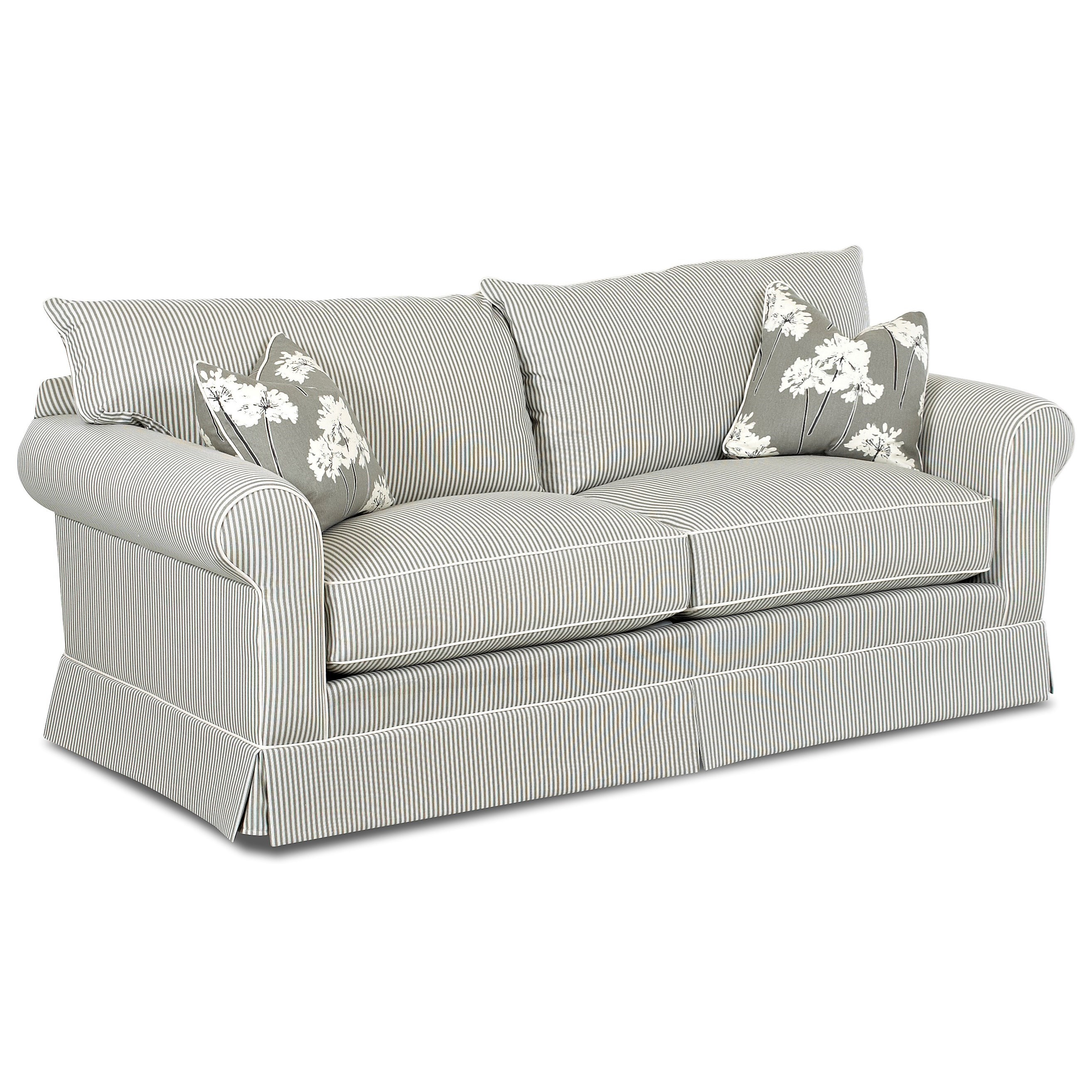 Klaussner Jenny Transitional Sofa With Skirt Value City