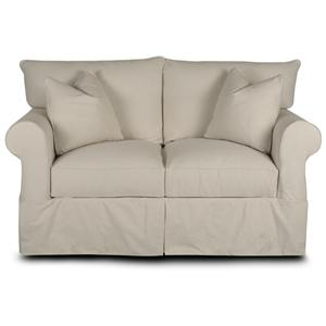 Klaussner Jenny Loveseat with Rolled Arms