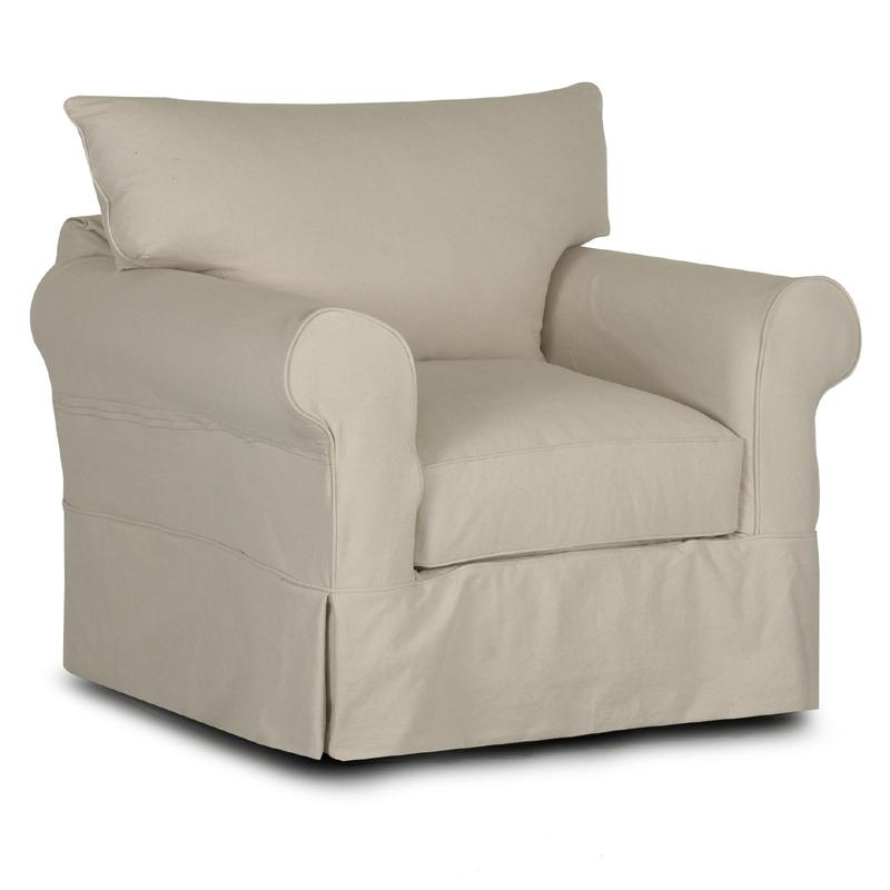 Klaussner Jenny D16100 C Slipcover Chair With Rolled Arms