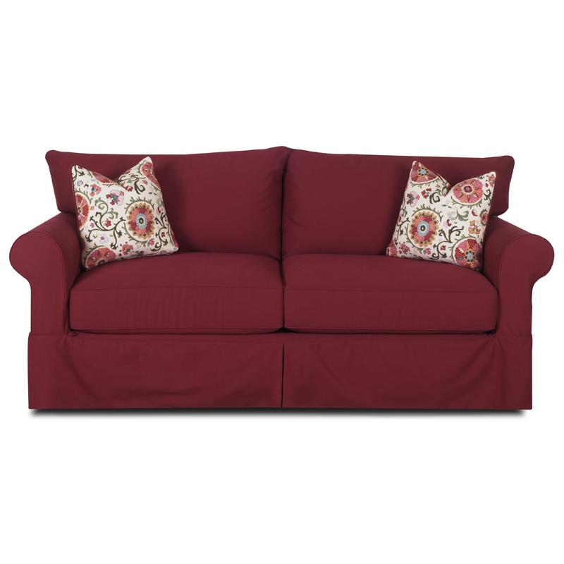 Klaussner Jenny D16100 S Slipcover Sofa With Skirt