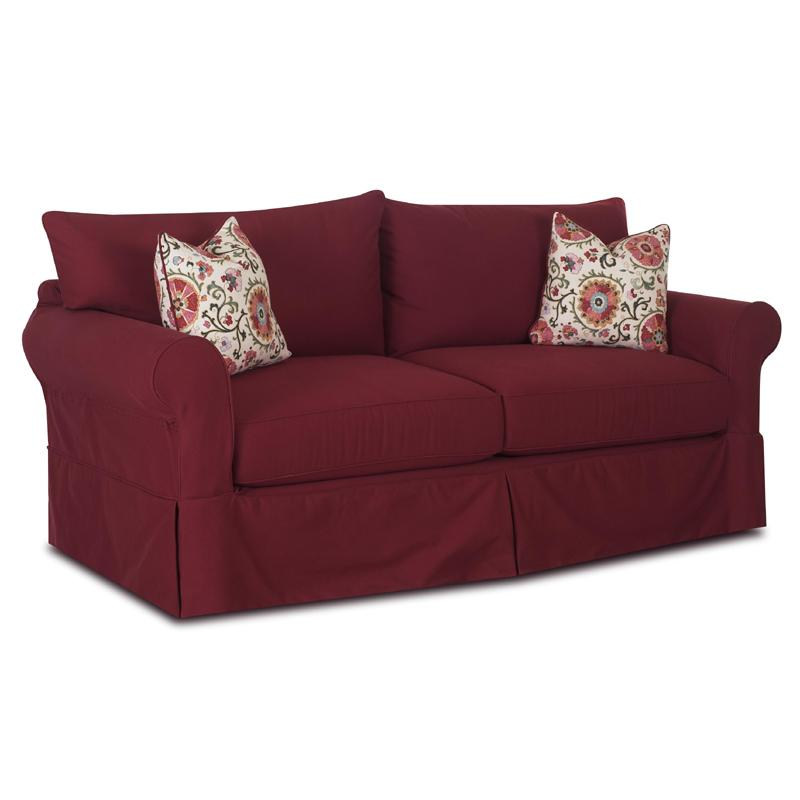 Klaussner Jenny Slipcover Sofa With Skirt Value City