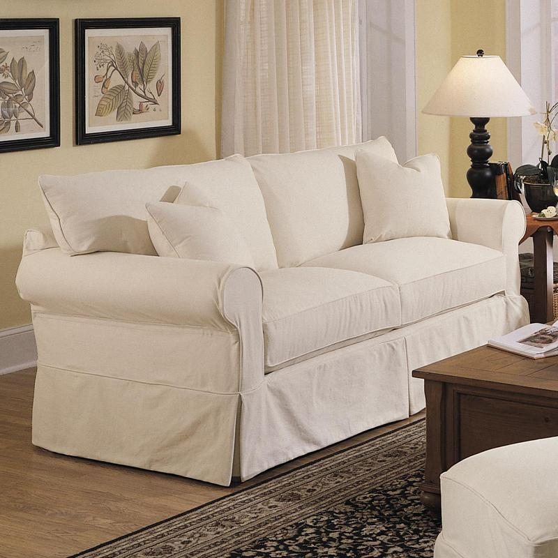 Klaussner Jenny Slipcover Sofa With Skirt Darvin