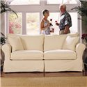 Elliston Place Jenny Slipcover Sofa with Skirt