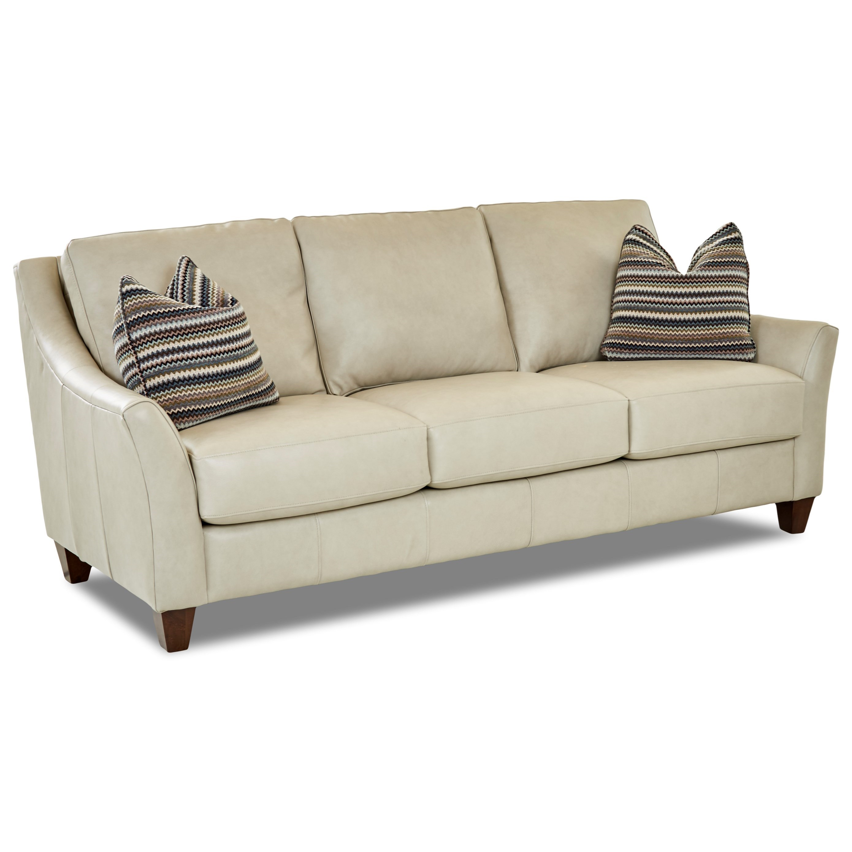 Klaussner Leather Sofa Review: Klaussner Joanna Contemporary Leather Sofa With Toss