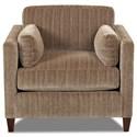 Klaussner Jordan Contemporary Tuxedo Back Chair with Bolster Pillows