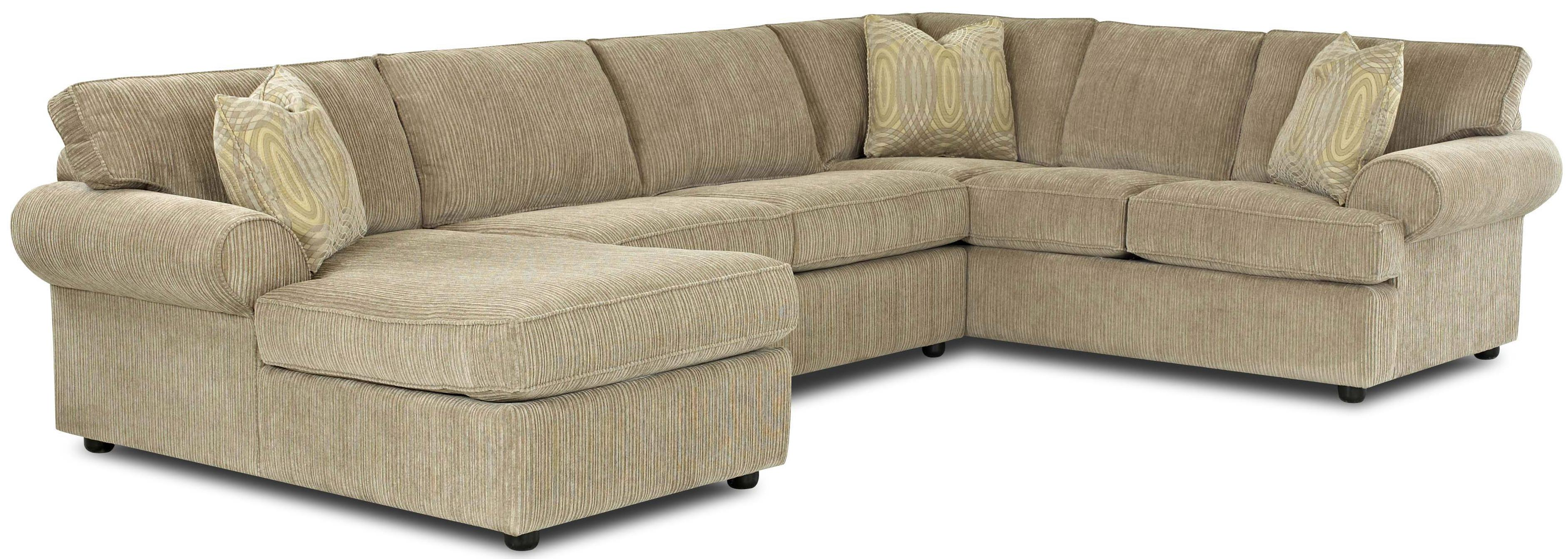 Julington Transitional Sectional Sofa With Rolled Arms And Left Chaise And Full Dreamquest