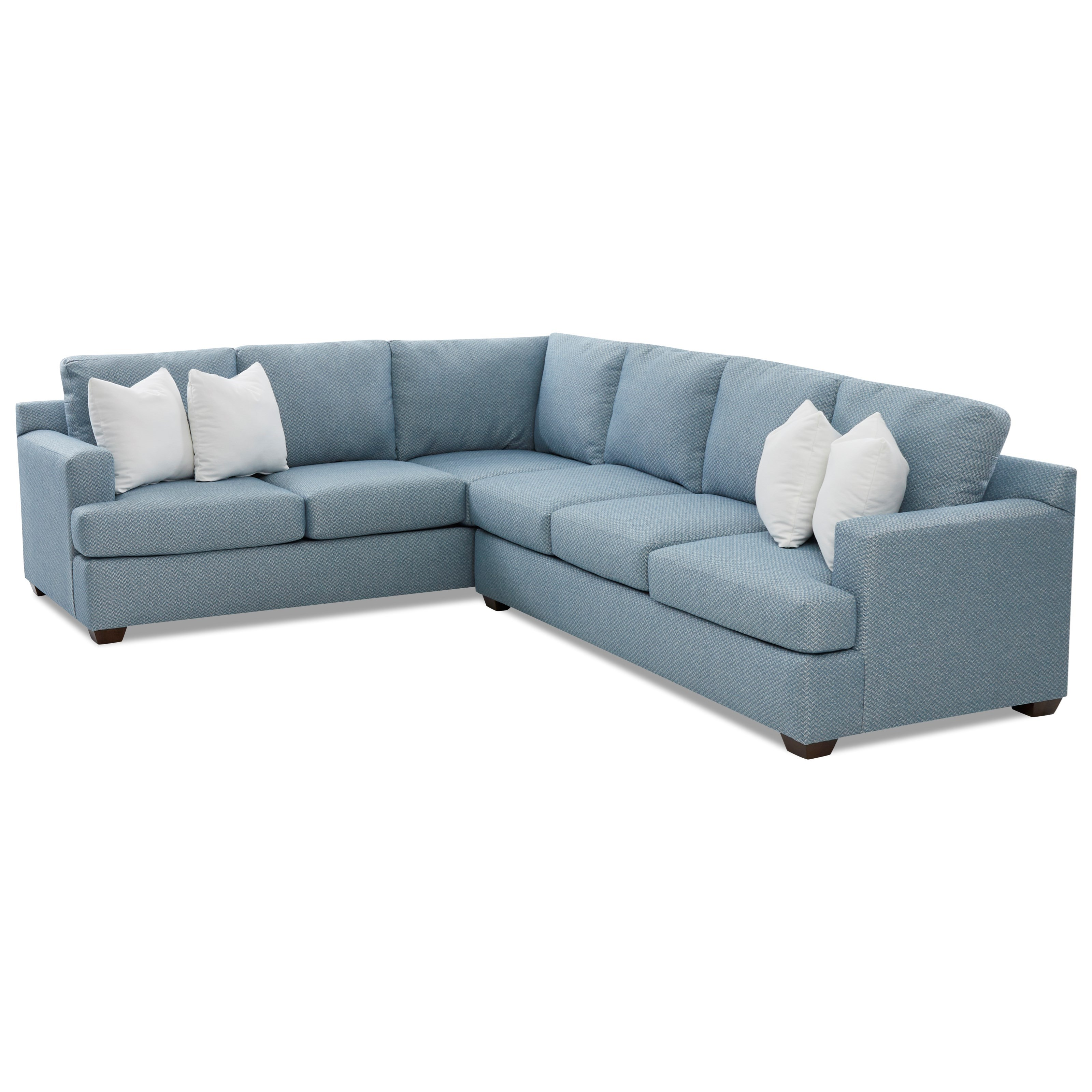Juniper 5-Seat Sectional Sofa with LAF Corner by Klaussner at Johnny Janosik