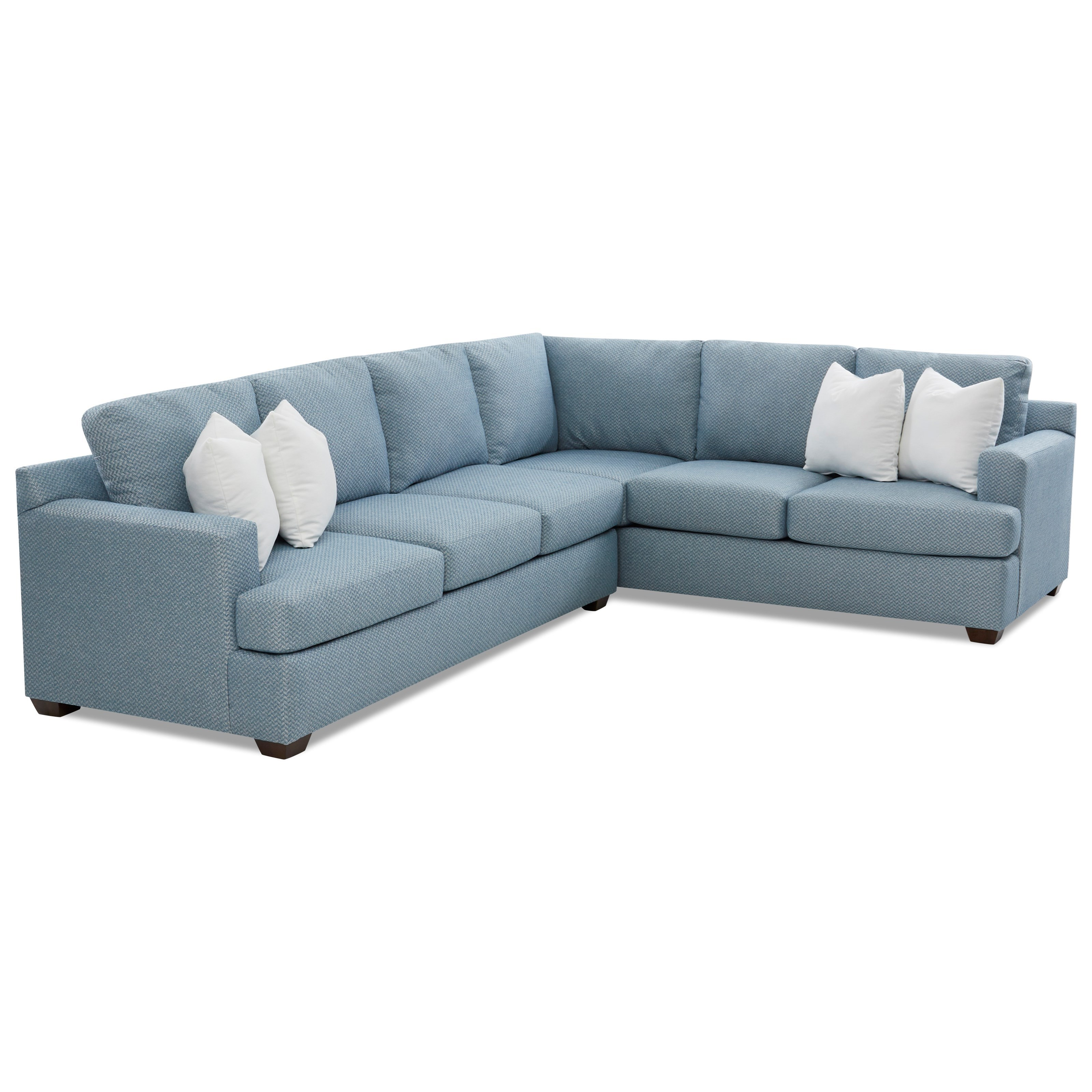 Juniper 5-Seat Sectional Sofa with RAF Corner by Klaussner at Johnny Janosik