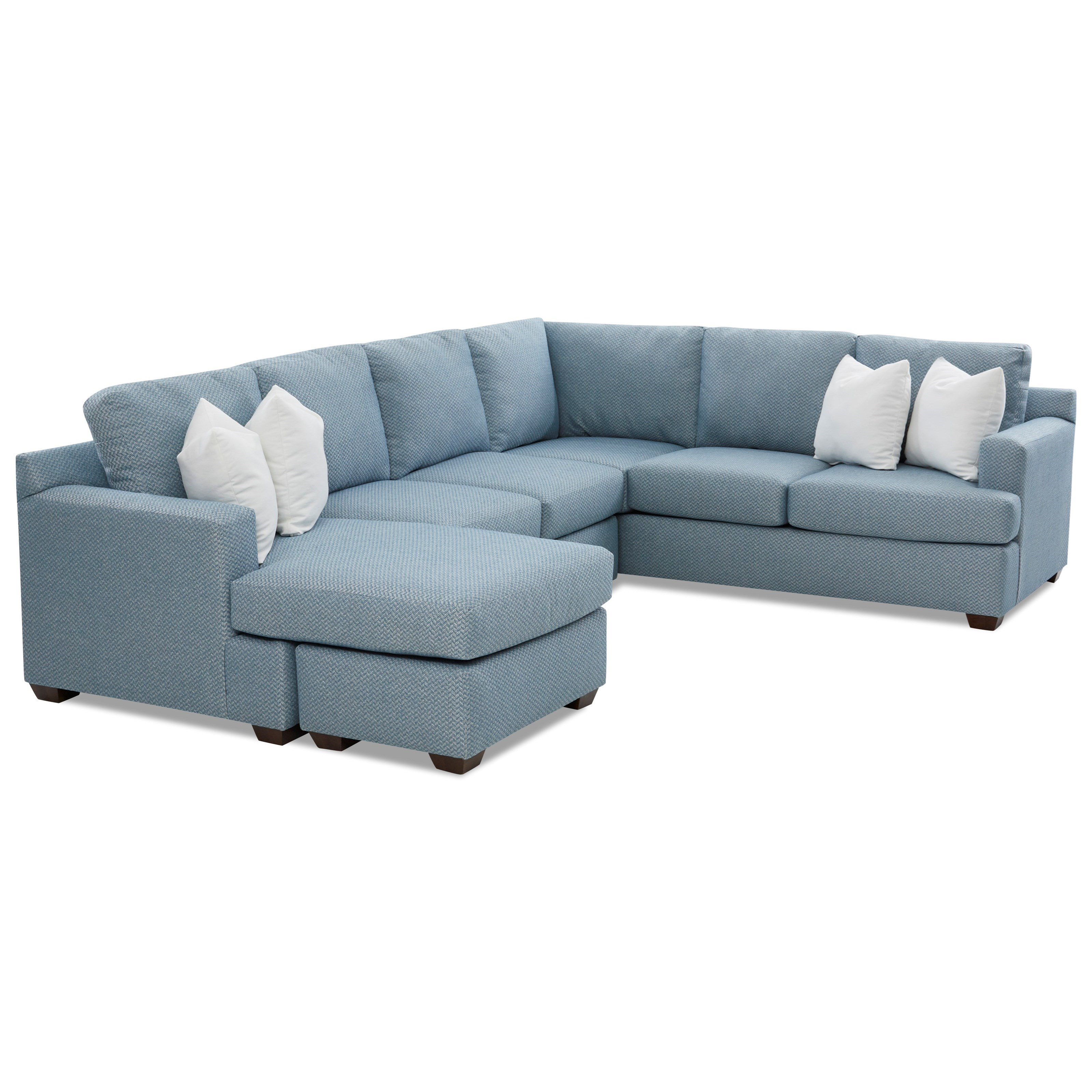 Juniper 5-Seat Sectional Sofa with LAF Chaise Ottoman by Klaussner at  Furniture Barn