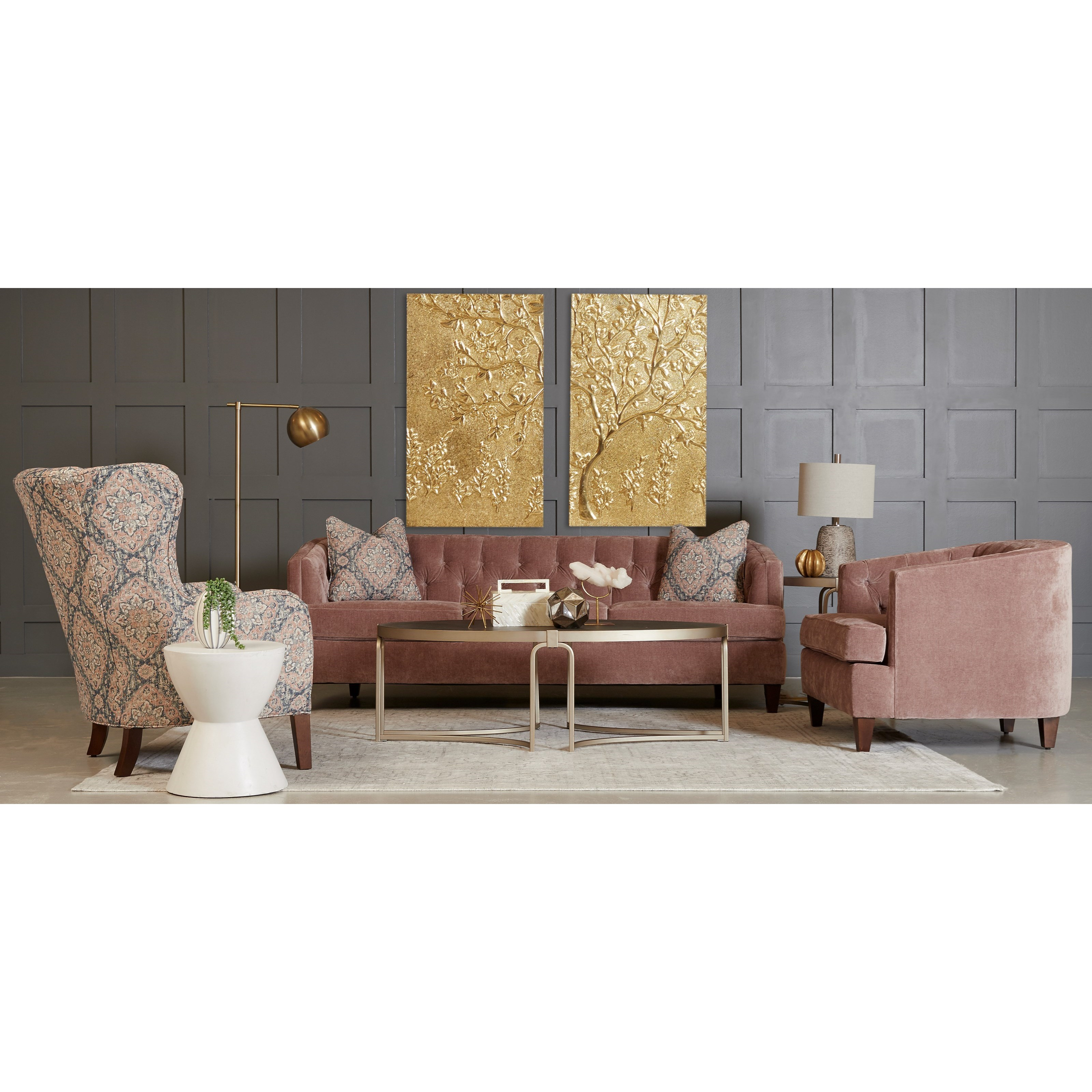 Kimbal Living Room Group by Klaussner at Johnny Janosik