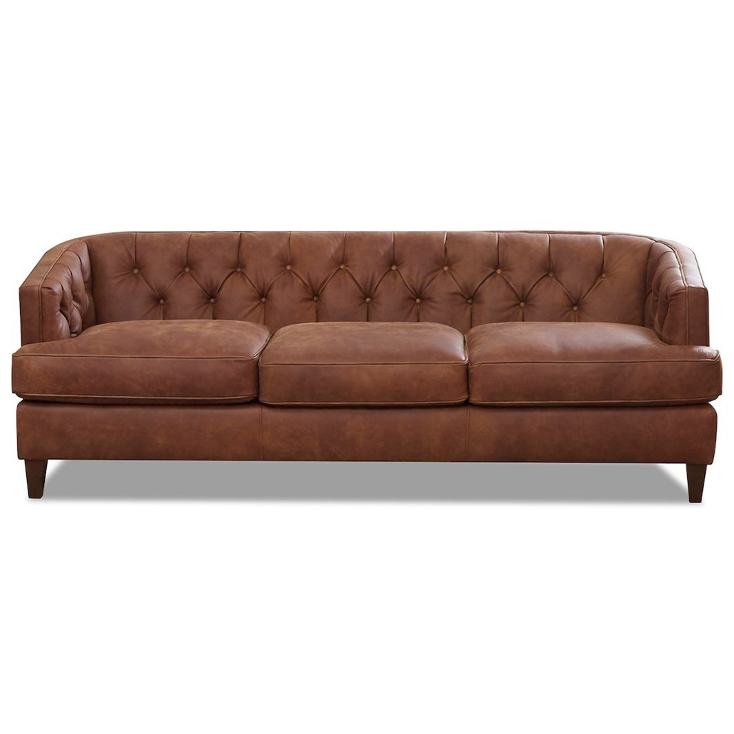 Kimbal Leather Sofa by Klaussner at Johnny Janosik