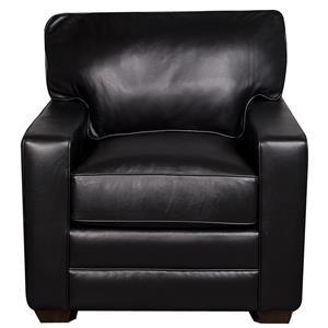 Elliston Place Katelynn Katelynn 100% Leather Chair