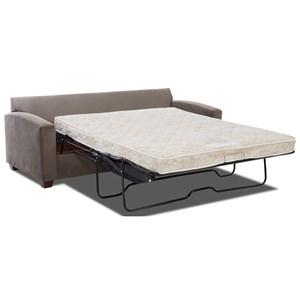 Klaussner Saville Queen Sofa Sleeper w/ Air Coil Mattress