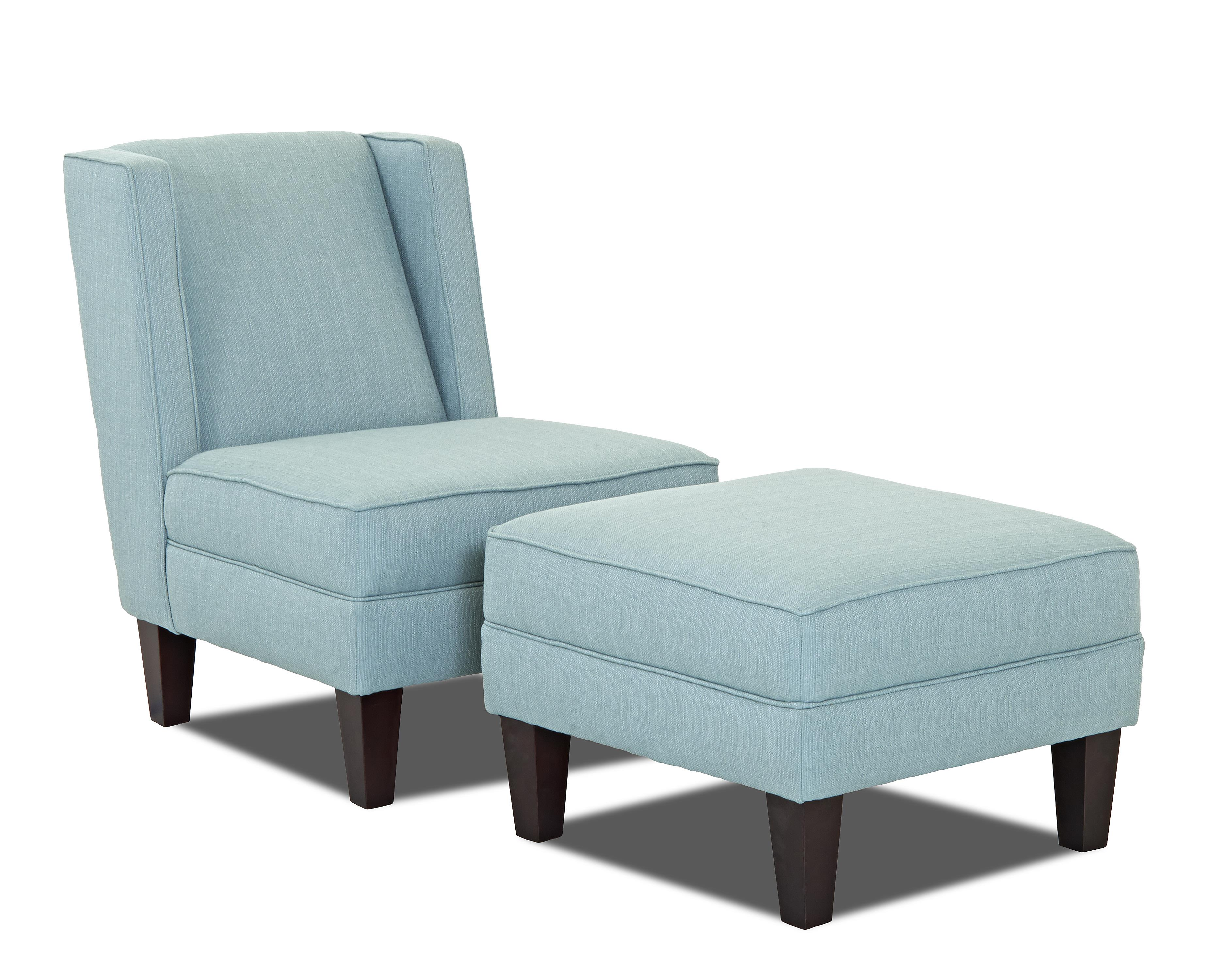 Klaussner Kaitlyn Chair and Ottoman Set - Item Number: K940 OC+OTTO