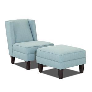 Elliston Place Kaitlyn Chair and Ottoman Set