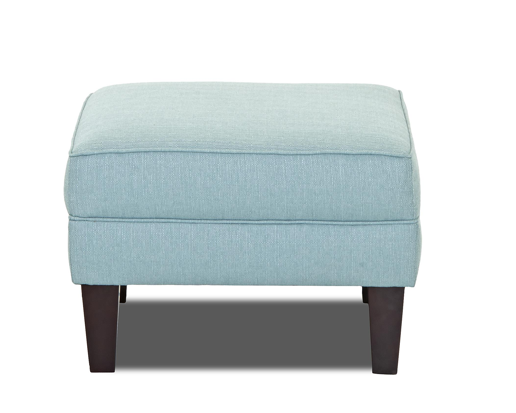 Klaussner Kaitlyn Ottoman - Item Number: K940 OTTO-DraftTurquoise