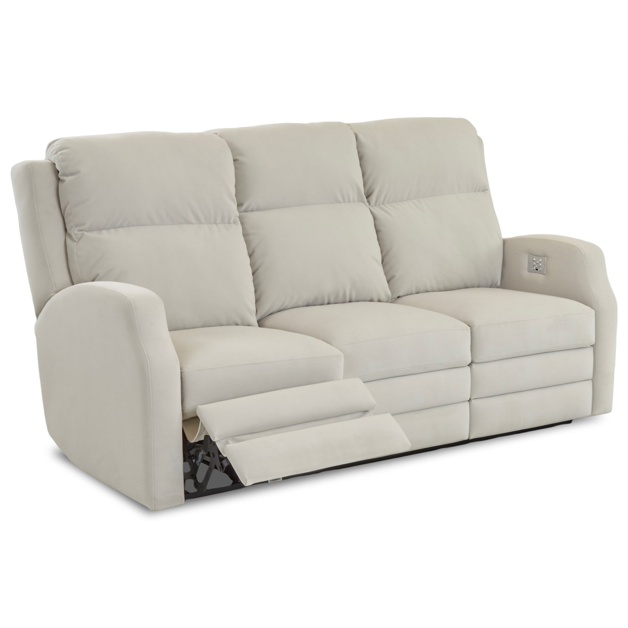Klaussner Kamiah 77 Inch Power Reclining Sofa With Usb