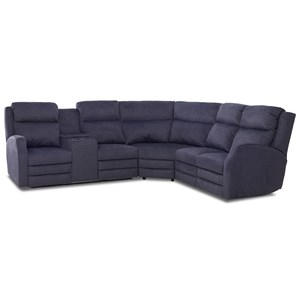 4 Seat Pwr Recl Sect Sofa w/ Pwr Head/Lumb