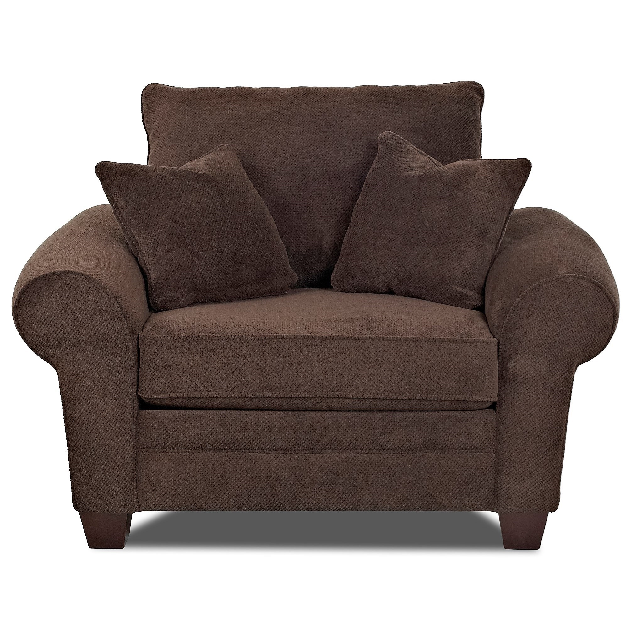Klaussner Kazler Oversized Plush Chair with Pillows Dunk