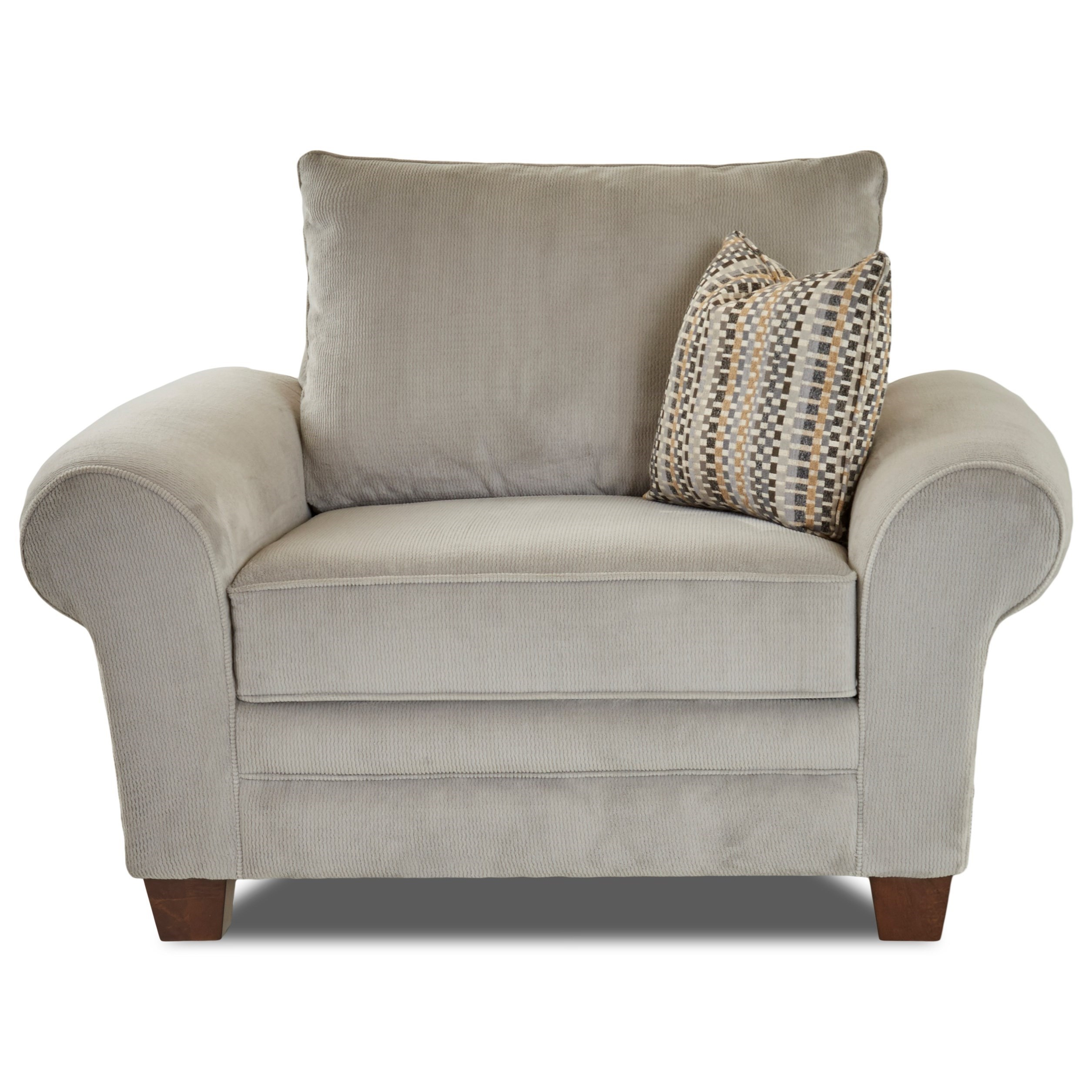 Klaussner Kazler Oversized Plush Chair With Pillows