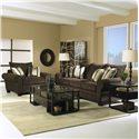 Elliston Place Kazler Luxurious Pillow Back Sofa - Shown with Chair