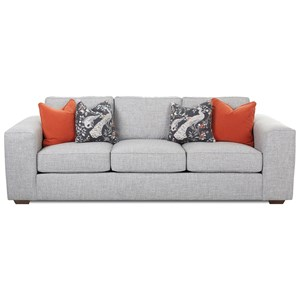 Klaussner Kearns Sofa with Accent Pillows