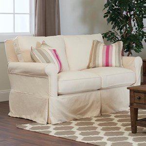Elliston Place Kenmore Loveseat with Slipcover