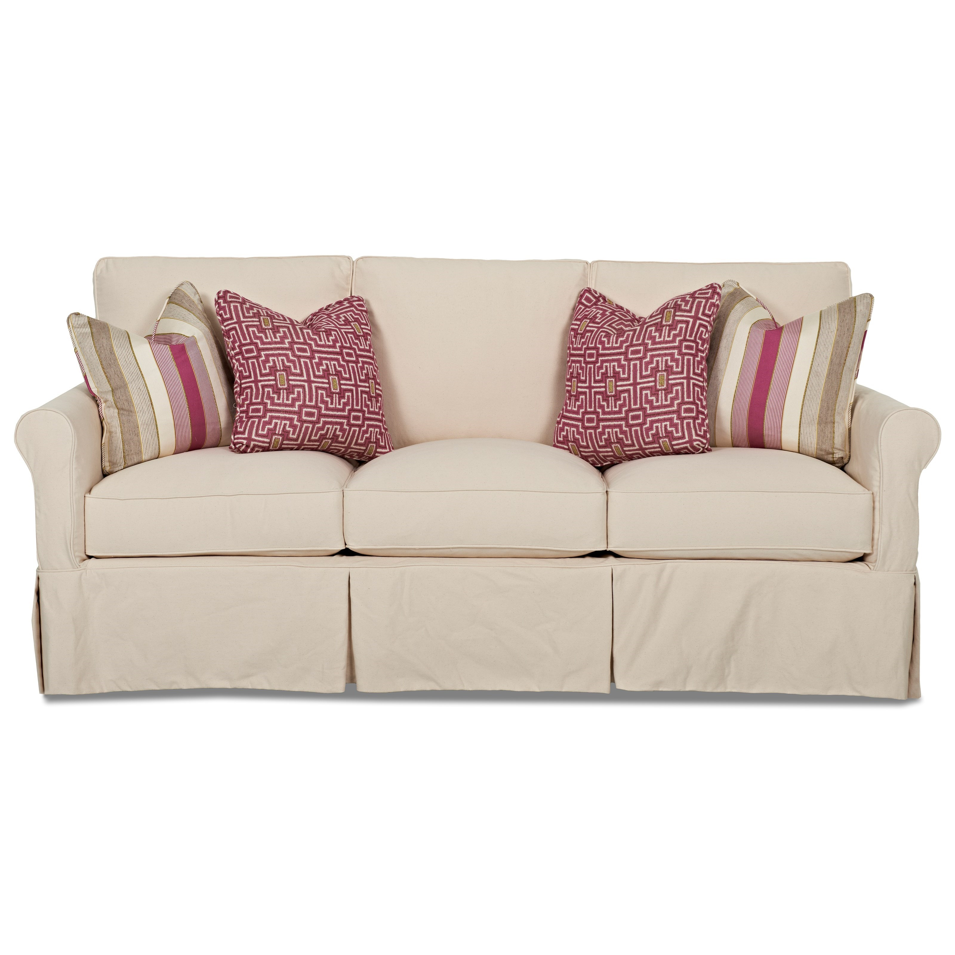 Klaussner Kenmore Sofa with Slipcover - Item Number: D7122 S