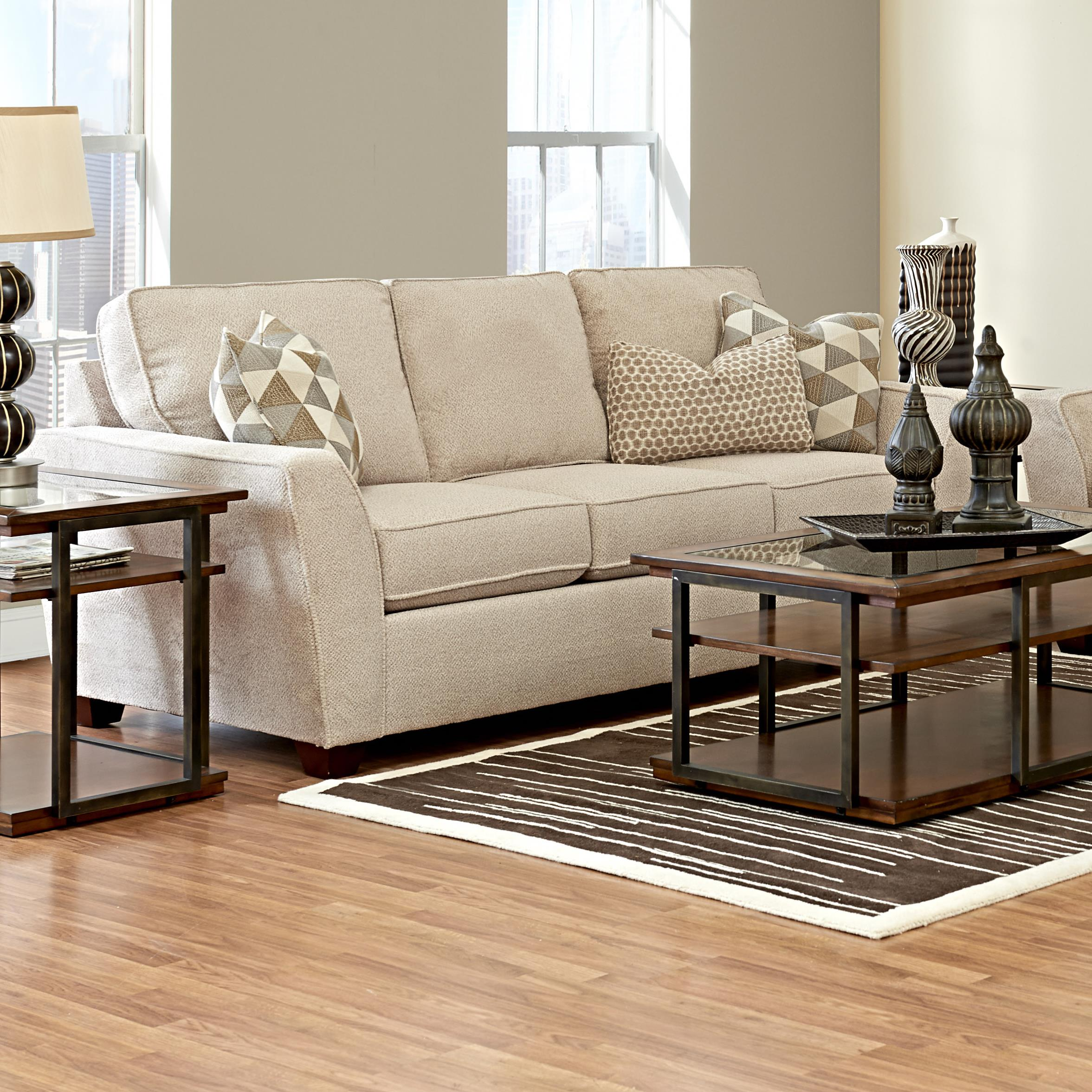 Klaussner Kent Sleeper Sofa - Item Number: K75600 IQSL-AshbyStone