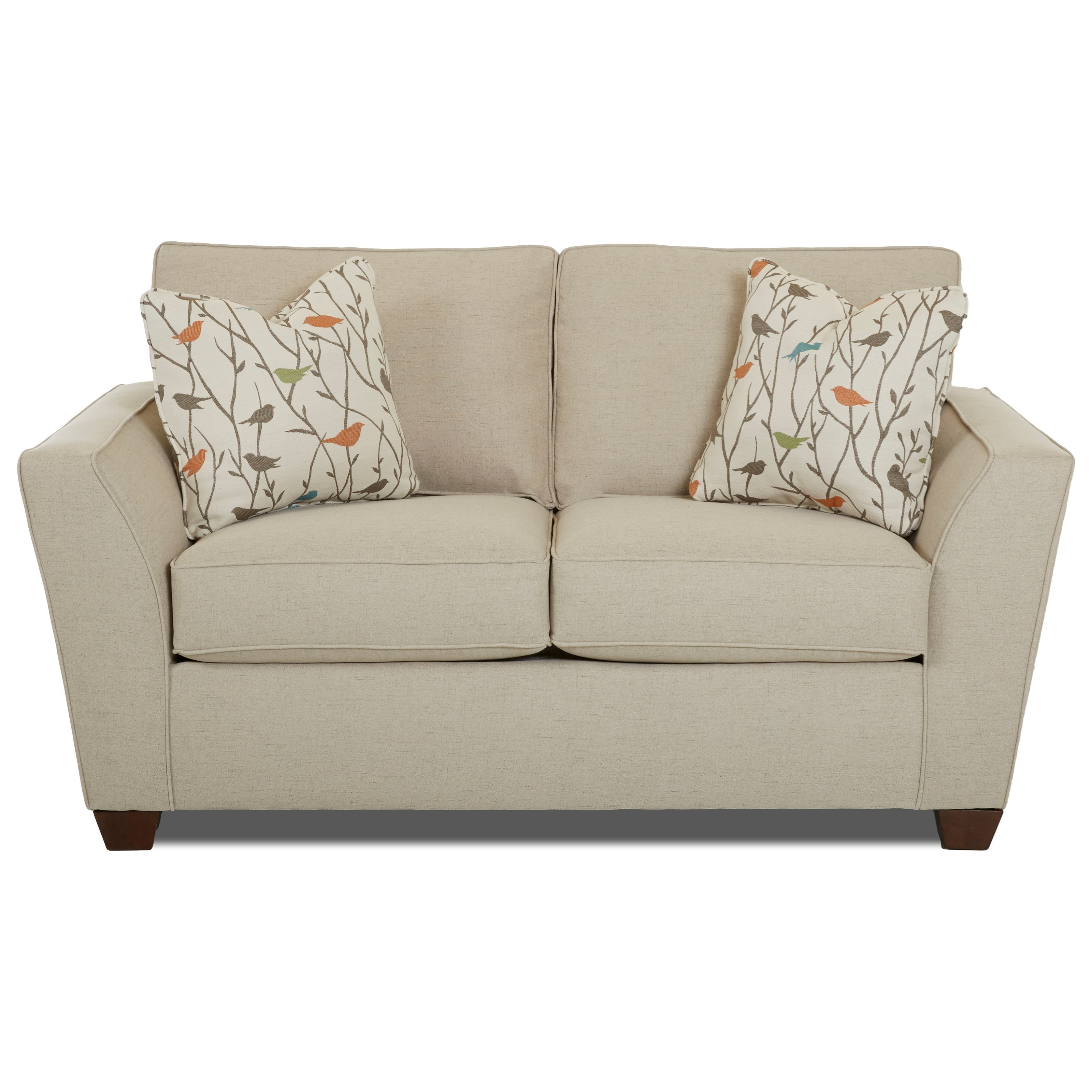 Klaussner Kent Loveseat - Item Number: K75600 LS-LUCAS HEMP