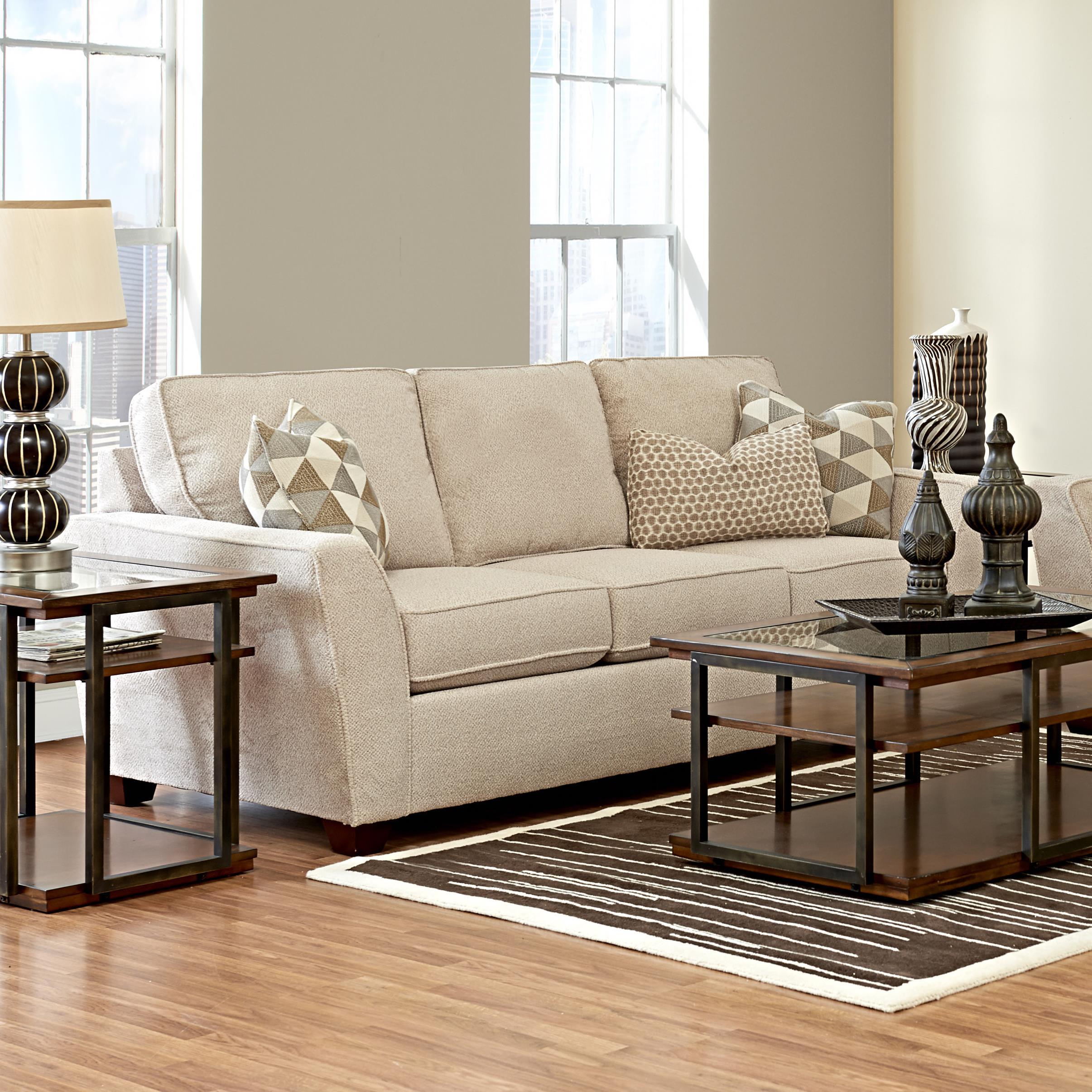 Klaussner Kent Sofa - Item Number: K75600 S-AshbyStone