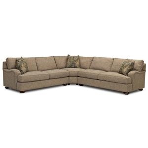 Klaussner Killian Traditional 3 Piece Sectional Sofa