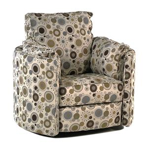 Simple Elegance Chairs and Accents Jigsaw Reclining Swivel Chair