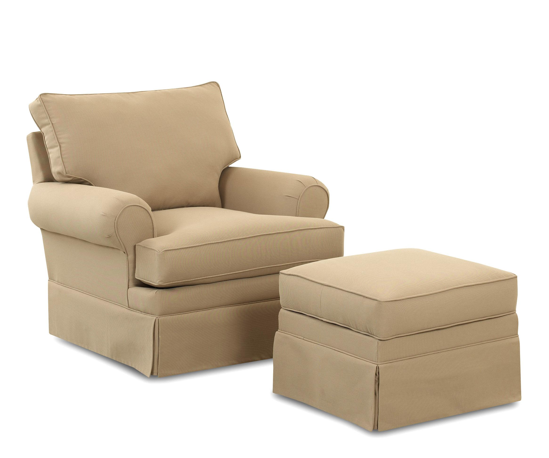 Klaussner Chairs and Accents Carolina Glider Chair and Ottoman - Item Number: 750-GC+750-GLDOT